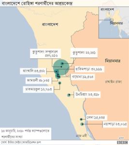 বাংলাদেশে রোহিঙ্গাদের আশ্রয়শিবিরসমূহ